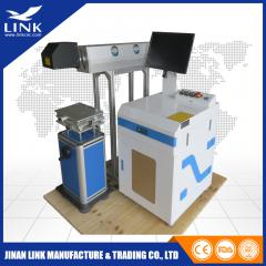 Metal tube CO2 monmetal plastic glass laser marking machine
