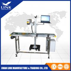 flying belt model fiber laser marking machine