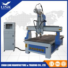 2 spindles automatic tool changer cnc router 1325