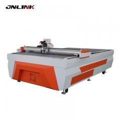 Safe vibrating knife cutter with Auto feeding type table optional for pvc foam board carton box samples cutting machine