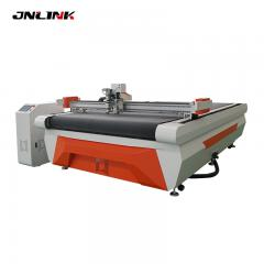 Effective denim cutting with auto feeding parts for eyeglasses cloth cutting machine