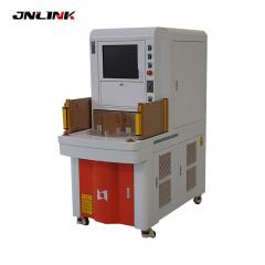 Four work station fiber laser marking machine for steel metal