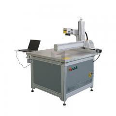 Sliding rail big work size metal engraving fiber laser marking machine